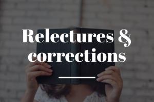 Relectures & corrections catégorie